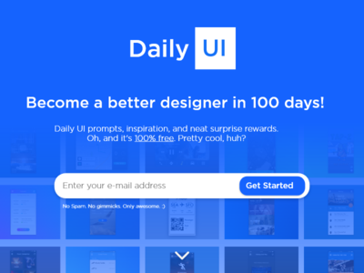 Daily UI Day 100 - Redesign Daily Ui Landing Page