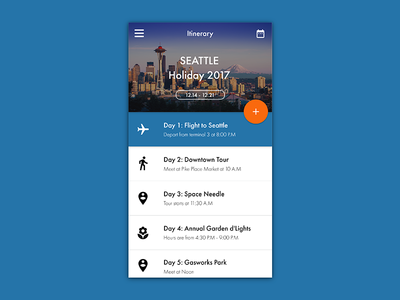 Daily UI Day 079 - Itinerary