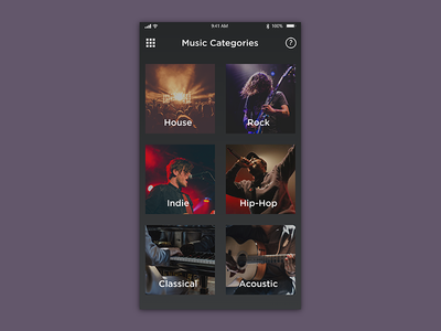 Daily UI Day 099 - Categories