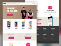 Concept design - Homepage