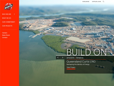 Bechtel Page Layout construction bechtel layout homepage
