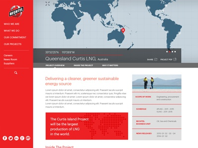 Bechtel Inner page layout layout landing page inner page