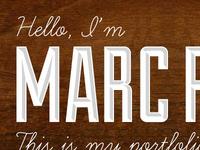 Hello I'm Marc