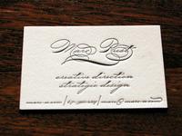 Fancy font business card
