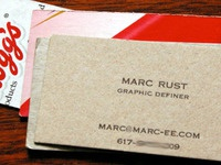 Recycled Cereal Box Business Cards