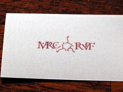 Vellum Paper Calling Card vellum business card gothic calling card
