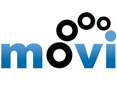 Movi Logo logo gradient circles blue startup bright high-key movie