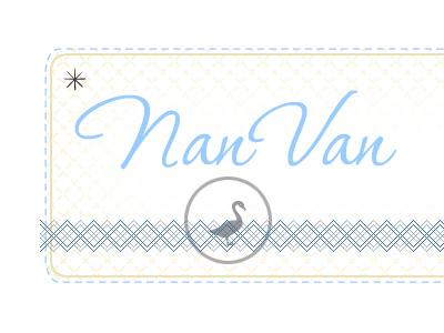 nanvan logo treatment logo goose dotted start asterisk cursive p22 corinthia corinthia vintage hip light circle argyle