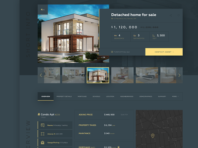 Real Estate minimalism black real estate webpage real estate webdesign website