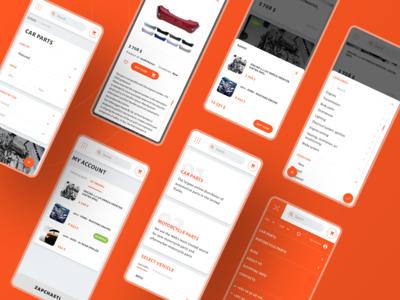Car parts e-commerce mobile website