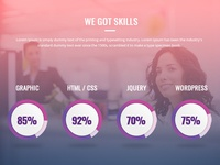 Designer skills progress bar