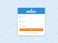 Login page layout