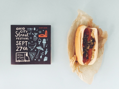 Hot Doggity Dog photography print design illustration street festival food guide identity