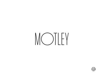 The Motley logo urban development typography identity