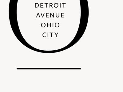 O| urban development typography identity