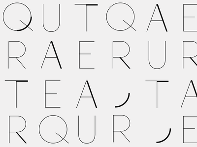 Q U T Q A E R A E R U R  identity pattern logo custom letterforms type