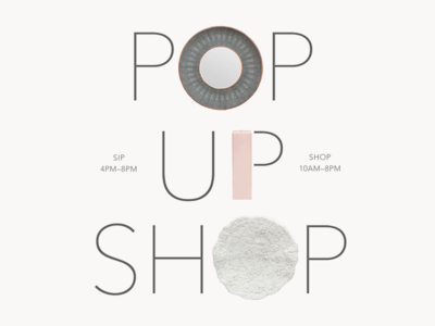 Pop-Up Shop identity typography holiday pop up shop email blast interior design
