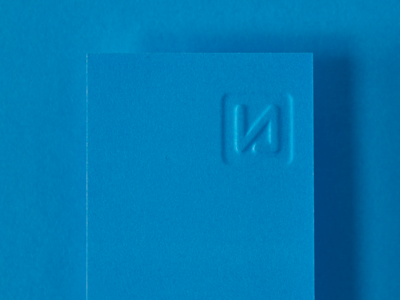 New Level art direction cyan print logo sculpted emboss business card stationery identity