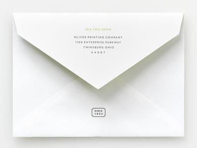 Pointed Flap design envelope typography print