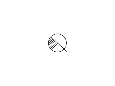 Q outtake linear branding lifestyle brand identity icon monogram