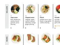 salads + buns