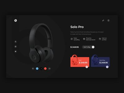 Beats Headphone - Concept UI Design