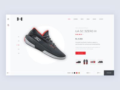 Under Armour Shoe Shopping Concept