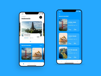 Travel App for booking - Concept Design