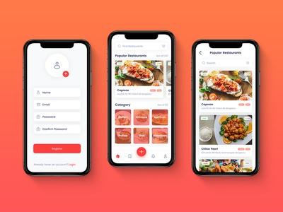 Foodie Point - Concept Mobile App UI Design