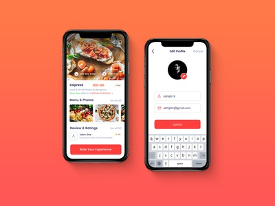 Food App - Concept Mobile App UI Design
