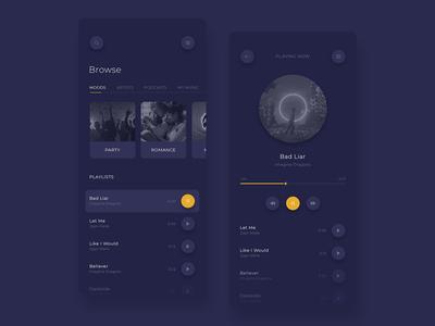Music Player App - UI Design