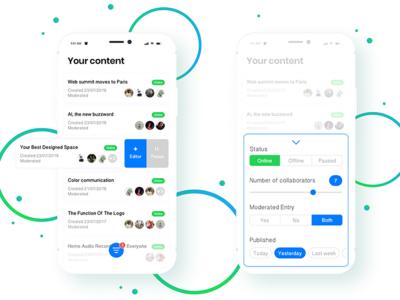 Content management app