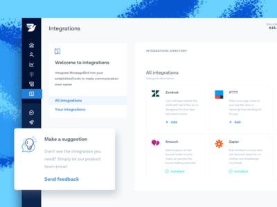 Integrations worskspace plugins apps dashboard integrations