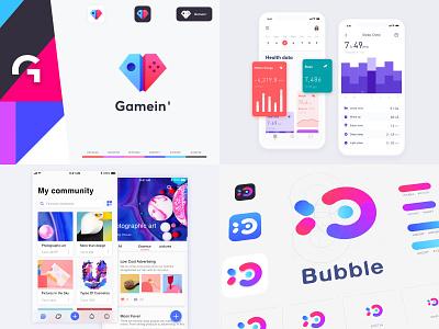 Top 4 of 2018 sleep color data health 2018 app fish bubble game brand community ux icon ios logo