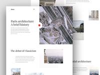 Paris architecture - website