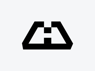 Letter H symmetrical h negative space h symbol letter h
