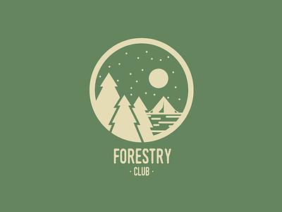 Forestry Club Logo logomark logotype illustration