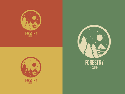 Forestry Club Colors logotype logomark illustration