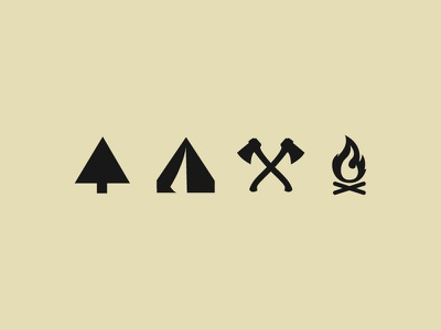 Forestry Club Icons icons illustration