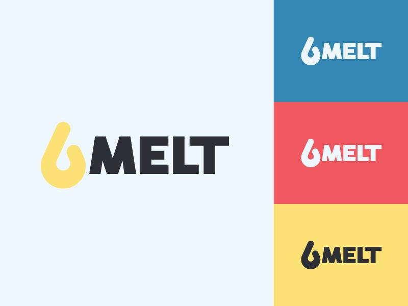 Dribbble melt logo concept