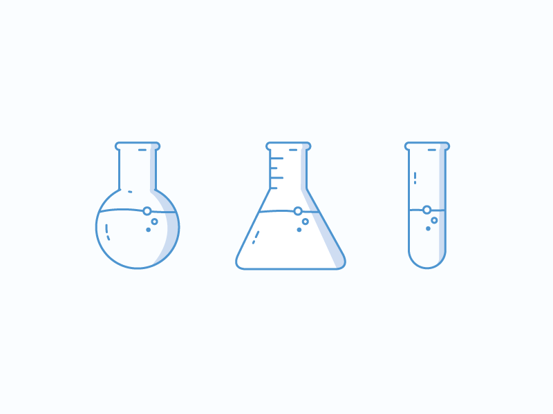 Chemistry glassware florence flask test tube erlenmeyer flask illustration icons