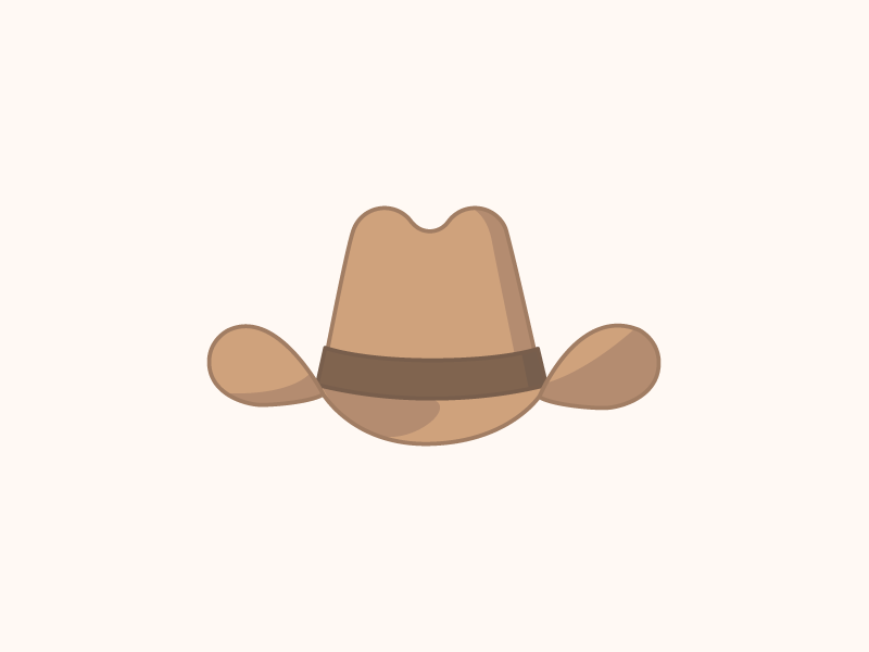 Pinched Front Hat western hat illustration