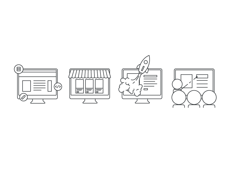 Icon Concepts icons illustration