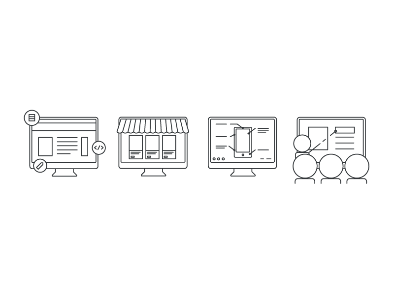 Icon Concepts Revision icons illustration