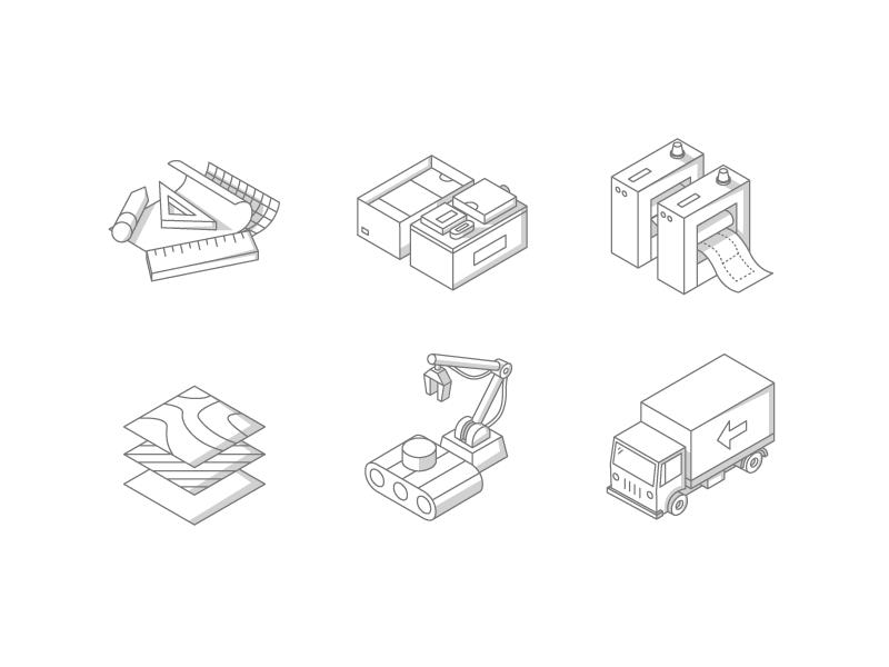 Icon Concept 2 isometric icons illustration