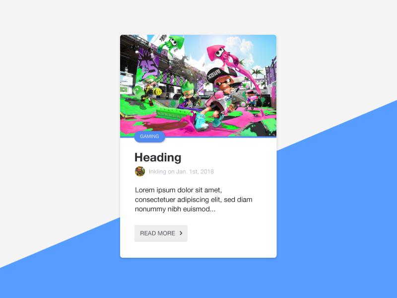 Card Concept ui web design