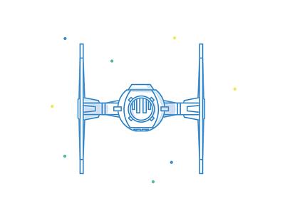 TIE Fighter icon illustration