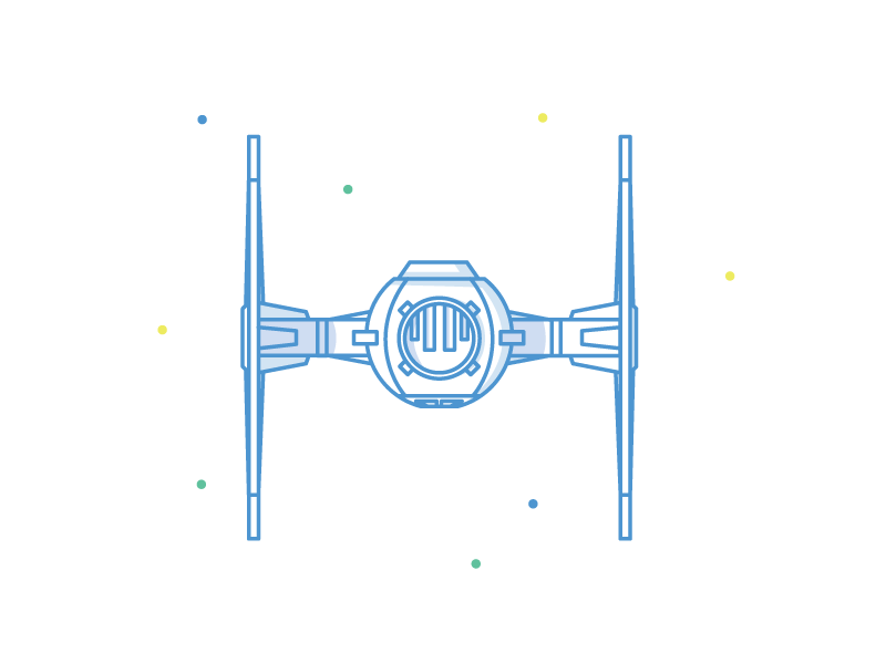 TIE Fighter icon illustration