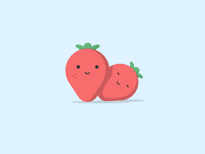Strawberries fruit strawberry illustration
