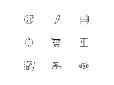 Icons branding design vector ui icon icons